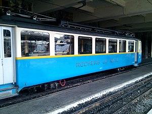 Montreux–Glion–Rochers-de-Naye Railway - A train in the Rochers-de-Naye platforms at Montreux station