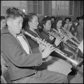 Rohwer Relocation Center, McGehee, Arkansas. A part of the reed section of the High School band in . . . - NARA - 539374.tif