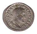 Roman denarius in silver (Maximinus)-transparent.png