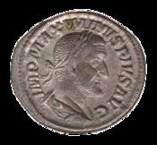 Maximinus denarius - transparent background.PNG