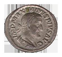 Roman denarius in silver (Maximinus)-transparent