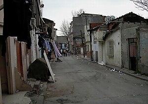 Gecekondu - A gecekondu street in West Istanbul.