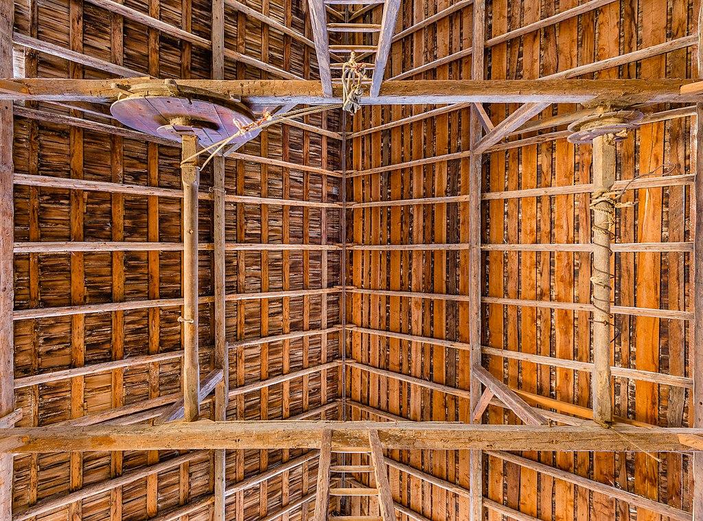 Roof of a heritage barn, Ruckle Heritage Farm, Saltspring Island, British Columbia, Canada.jpg