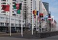 Rotterdam, de landenvlaggen van alle nationaliteiten die in Nederland verblijven (op alfabetische volgorde in het Engels) IMG 1877 2018-03-18 13.53.jpg