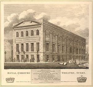 Rudolphe Cabanel - Royal Cobourg Theatre, 1819 engraving