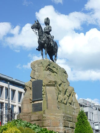 William Birnie Rhind - Monument to the Royal Scots Greys in Princes Street Gardens, Edinburgh