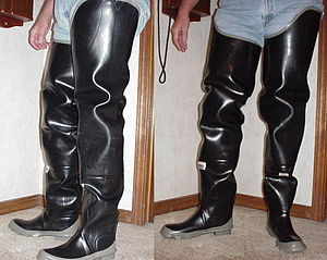Erotic rubber hip boot stories