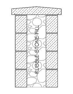 Rubble-fill-wall