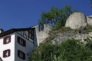 Münchenstein - Ruins of Münchenstein Castle.