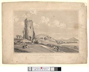 Ruins of Aberystwith Castle from the N.W