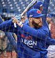 Russell Martin takes batting practice before the AL Wild Card Game. (30071412151).jpg