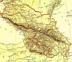 Den russiske transkaukasien direkte efter dannelsen af den Trankaukasiske demokratiske federative republik