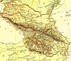 Georgia within the Russian Empire - Russian Caucasus, 1882