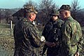 Russian and American soldiers work together at check point 36A (34TCQ 215514) located in the Russian Brigade Area of Operation, Bosnia-Herzegovina during Operation Joint Endeavor. T - DPLA - eec3d50d028907470482991d108f6432.jpeg
