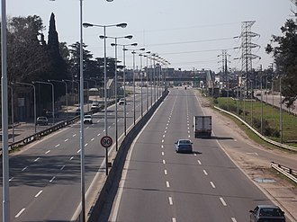 National Route 3 (Argentina) - National Route 3 freeway along the southwestern Greater Buenos Aires suburb of González Catán.