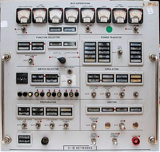 Launch Control Center - A Saturn I-B control panel from an Apollo-era Firing Room
