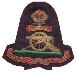 Transvaal Horse Artillery - SADF era Transvaal Horse Artillery bullion badge