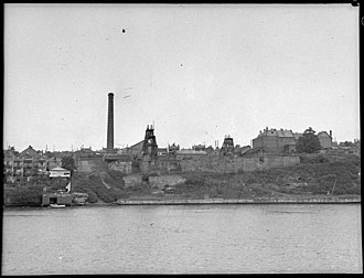 Coal mining - Balmain Coal Mine in New South Wales in 1950. Photograph taken by Sam Hood for LJ Hooker, State Library of New South Wales, 31753