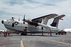 SP-5B VP-50 on ramp at NS Sangley Point 1966.jpeg