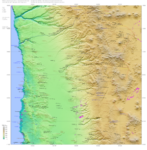 Treaty of Peace and Friendship (1904) - Image: SRTM W70.33E68.34S21.00N1 9.00.Iquique
