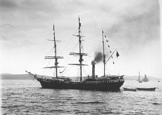 SS Southern Cross (1886) - Image: SS Southern Cross, Derwent River, 1898