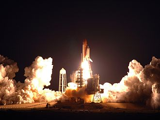 STS-123 - The launch of STS-123, at 06:28 UTC on 11 March 2008.