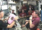 STS129 bresnik baby celebration