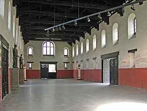 Saalburg - Interior of the assembly hall
