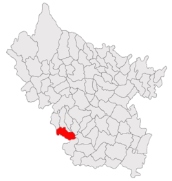 Location of Săhăteni