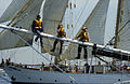 Sailors aboard Tall Ship, Boston Harbor (8638119252).jpg