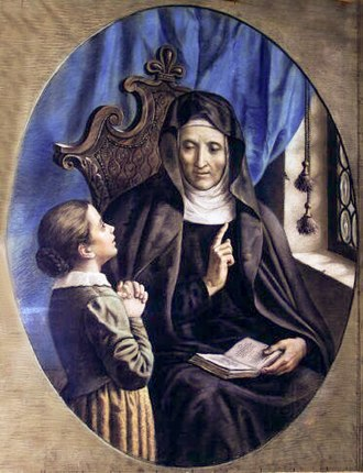 Angela Merici - St. Angela Merici Teaching by Pietro Calzavacca (mid 19th-century)