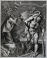 Saint Christopher. Etching by R. Eynhoudts after Sir P.P. Ru Wellcome V0031885.jpg