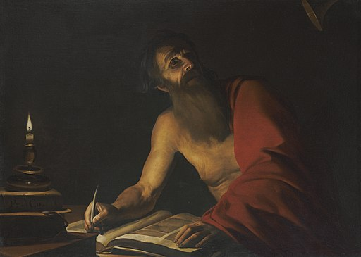 Saint Jerome Reading by Candlelight attributed to Trophime Bigot