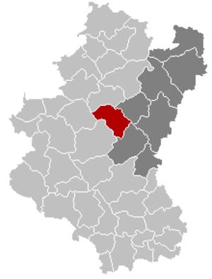 Sainte-Ode - Image: Sainte Ode Luxembourg Belgium Map