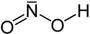 Strukturformel von Salpetriger Säure