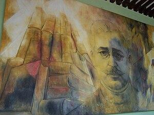 Fernando Castro Pacheco - Mural of Salvador Alvarado, former governor of Yucatan, displayed at the governor's palace, Merida (Yucatan), Mexico. Painted by Fernando Castro.