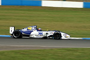 Salvador Durán - Durán driving for Interwetten.com at the Donington Park round of the 2007 Formula Renault 3.5 Series season.