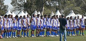 Sport in Samoa - The Samoan national Australian rules football team in 2008.