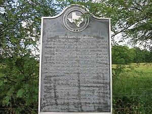 San Felipe, Texas - Image: San Felipe TX Town Marker