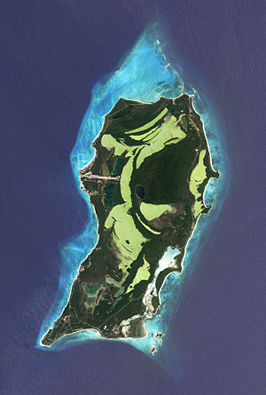 San Salvador Island - San Salvador from space, 2007