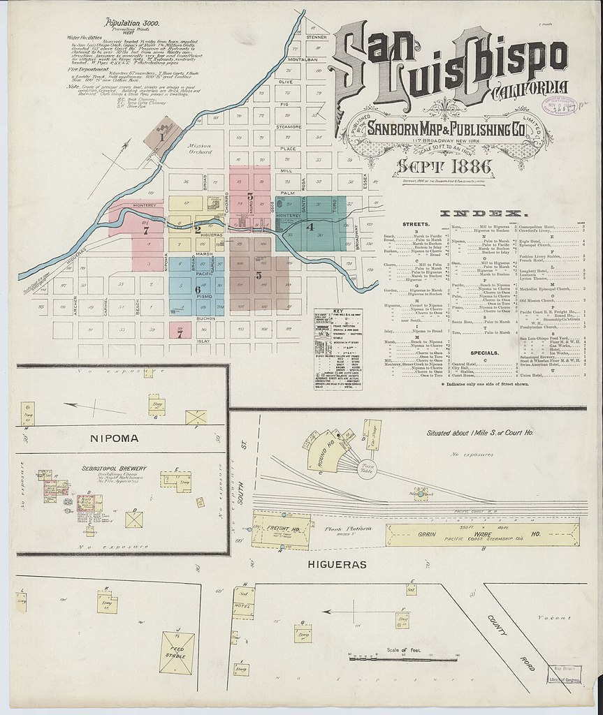 File:Sanborn Fire Insurance Map from San Luis Obispo, San Luis ... on map of cal poly slo campus, map of california showing fortuna, map of fortuna ca, map of humboldt county ca, map of eureka ca area,