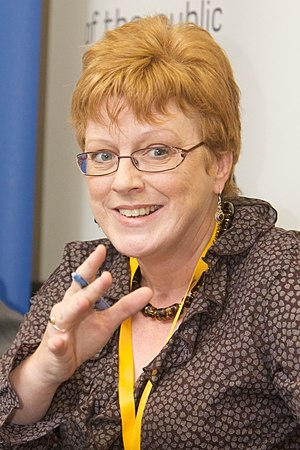 Sandra Gidley - Gidley at a Health Hotel session during the 2009 Liberal Democrat Party Conference