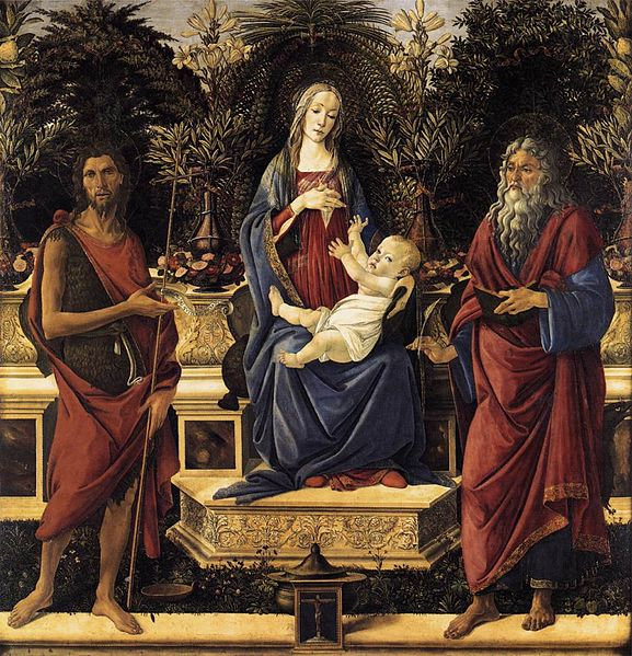 File:Sandro Botticelli - The Virgin and Child Enthroned (Bardi Altarpiece) - WGA2722.jpg