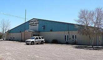Sanford, Colorado - The town hall and community center on Greenleaf Street.