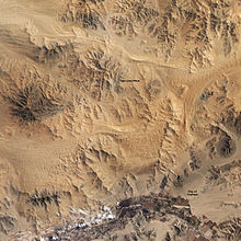 Satellite photo of the mine area in the Atacama desert.