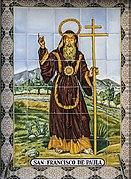 Sant Francesc de Paula. Ceràmica (Rajola de València). Espai públic d'Alaquàs (País Valencià).jpg