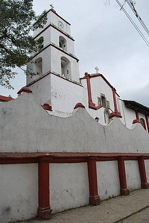 Pahuatlán - View of the parish church