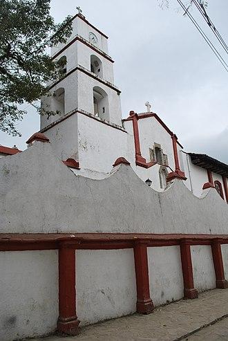 Pahuatlán - View of the parish church
