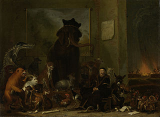 Satire on the trial of Johan van Oldenbarneveldt