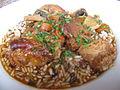 Sauté de veau Marengo et riz de Camargue.JPG